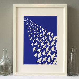Bird's Flying Off Into The Distance Art Print - posters & prints