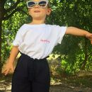 Personalised Hand Embroidered Kids T Shirt