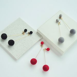 Pom Pom Drop Earrings - new in jewellery