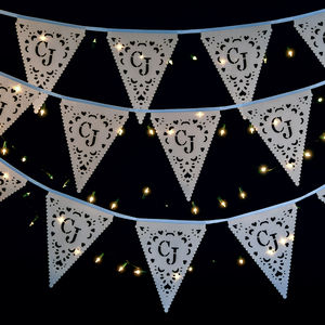 Personalised Monogram Wedding Bunting - winter styling