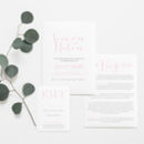 'Love Note' Wedding Stationery Set