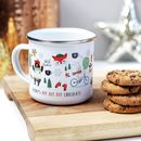 Personalised Child's Ho Ho Ho Hot Chocolate Enamel Mug