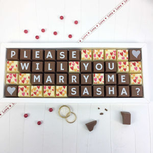 Personalised Please Will You Marry Me Chocolate Gift - novelty chocolates