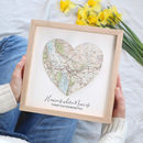 Home Is Where Mum Is Personalised Map Heart Print