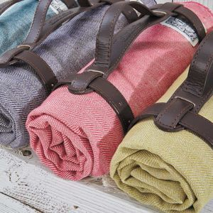 Pure Linen Picnic Rug / Beach Blanket / Pool Throw - picnic rugs
