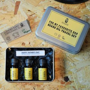 For My Favourite Dad Fathers Day Beard Oil Travel Set - gifts from younger children