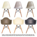 Eames Style Daw, Arm Chair. Deep Colours, 20+ Colours