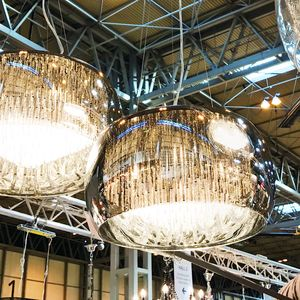 Glass Shimmering Chandelier Ceiling Light - lighting