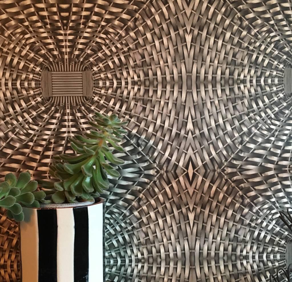 Woven Metal Wallpaper