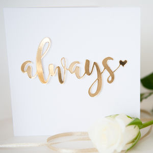 Love Card 'Always' - original valentine's cards