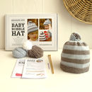 Baby Merino Bobble Hat Beginner Knitting Kit