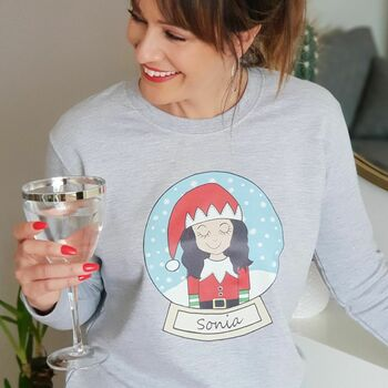 Personalised Snow Globe Christmas Jumper