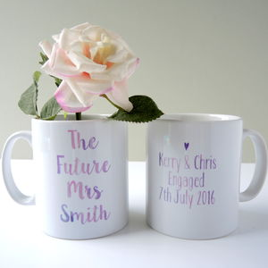 The Future Mrs Wedding Engagement Mug - engagement gifts
