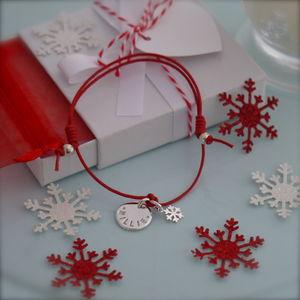 Personalised Silver Snowflake Bracelet - bracelets & bangles