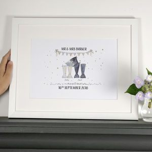 Personalised Wedding Welly Boot Print - view all