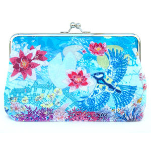 Cloud Lily Silk Clutch Bag - womens