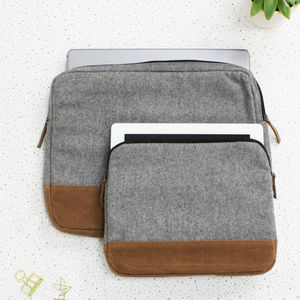 Wool Laptop And iPad Case