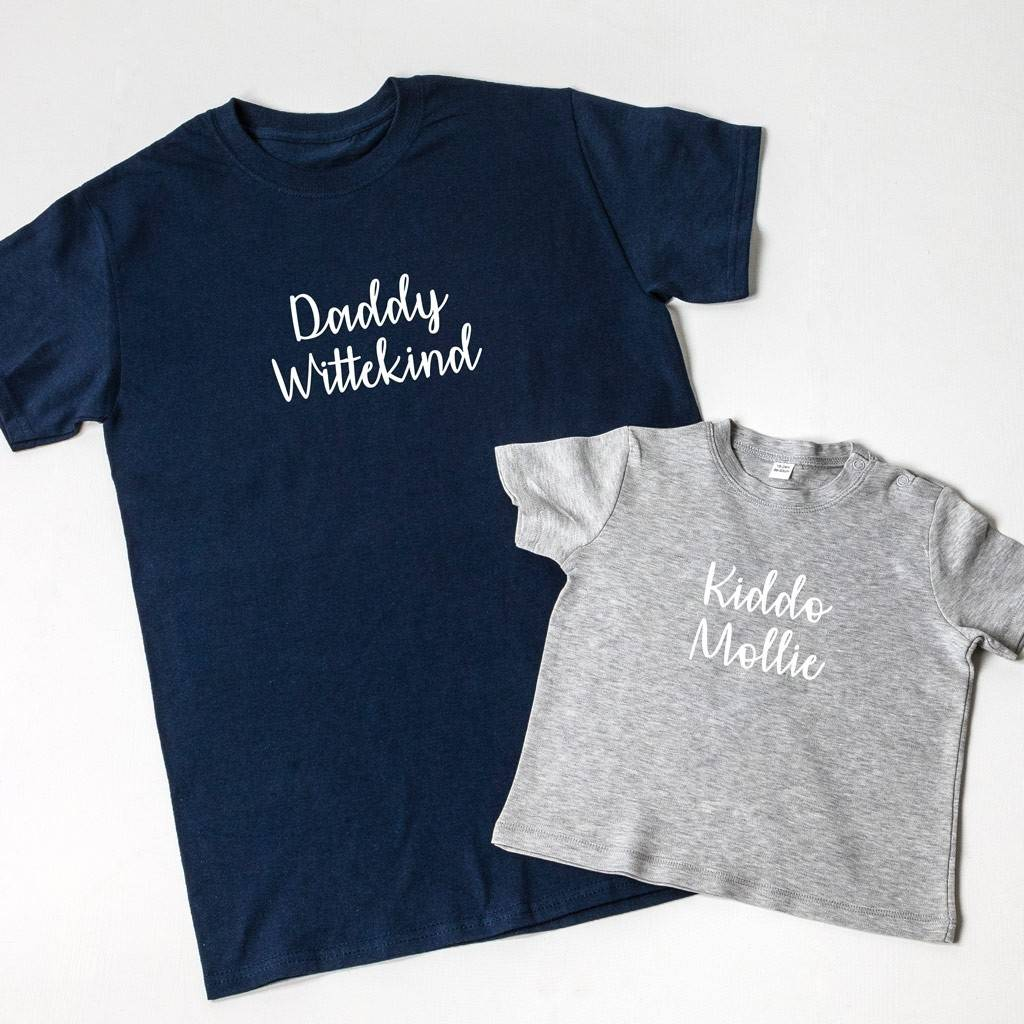 Personalised Father's Day T Shirt Set