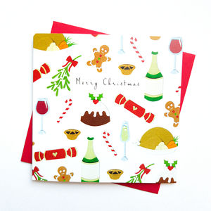 Festive Christmas Cards Pack Of Five