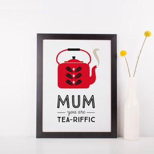 Mothers Day Tea Scandinavian Print - posters & prints