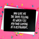 Funny Food Boyfriend Or Girlfriend Card