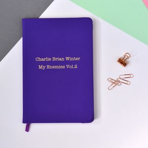 Personalised Enemies Notebook
