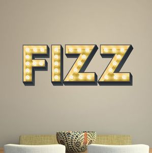 Fizz Light Up Letter Effect Wall Sticker - home decorating