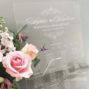 Eva A2 Perspex Table Plan - room decorations