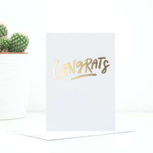 'Congrats' Greetings Card - engagement cards