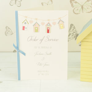 Beach Hut Order Of Service - styling your day sale