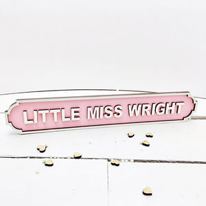 Personalised Children's Room Name Road Sign - door plaques & signs