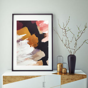Modern Bold Abstract Art Print Gold Modern Framed Art - update your walls