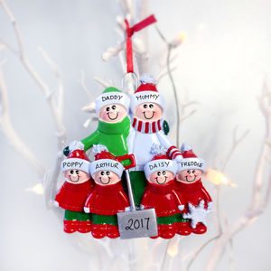 Family Personalised Christmas Decoration