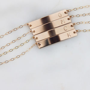 Gold Or Silver Personalised Bar Bracelet