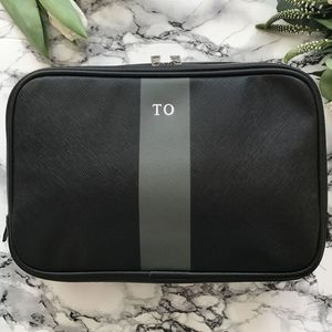 Personalised Saffiano Stripe Wash Bag
