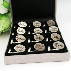Wedding Cufflink Selection Box Six Or Twelve Pairs - mens