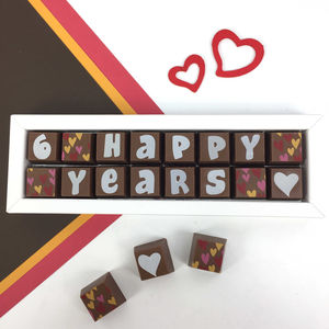 Chocolate Anniversary Gift With Personalised Year