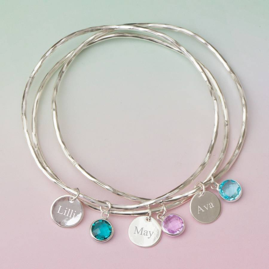 design mom mama bracelet mkw co bangle mkwdesignco personalized birthstone products