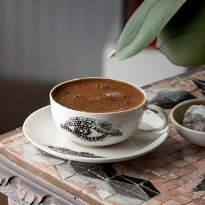 Handmade Espresso/Turkish Coffee Cups 'Eye And Lip' - cups & saucers
