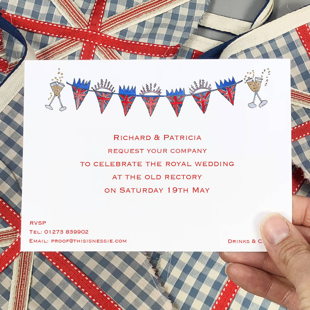royal wedding party invitations by this is nessie ...