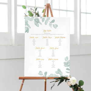 Eucalyptus Muted Green Table Plan