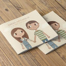 Love Story Wedding Invitation Booklet
