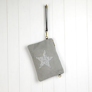 Sparkle Star Clutch Bag