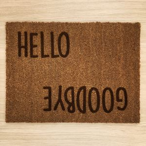 Personalised Entry Exit Message Doormat - rugs & doormats