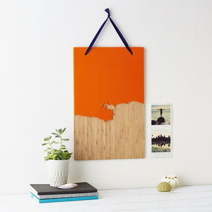 Coastline Wooden And Acrylic Wall Hanging - gifts for men