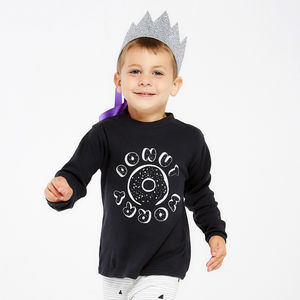 Children's 'Donut Worry' T Shirt - slogan clothing