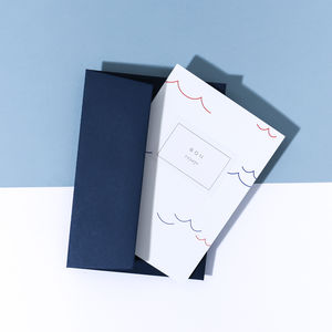 'Bon Voyage' Card, Imperial Blue Envelope