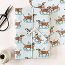 Festive Dachshunds Christmas Wrapping Paper