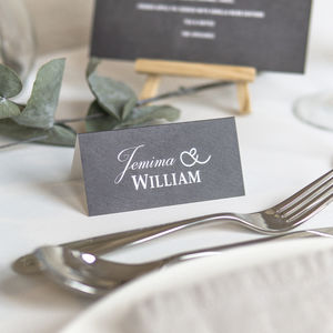 Chalkboard Style Wedding Place Names - place cards