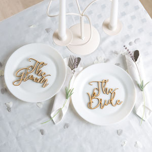 The Bride And Groom Place Setting - wedding stationery